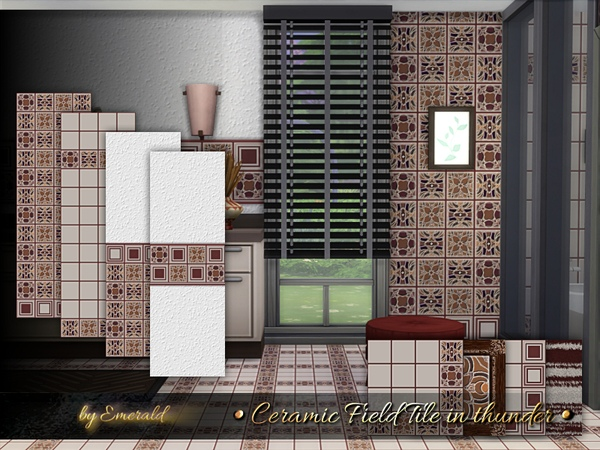 Ceramic Field Tile in thunder by emerald