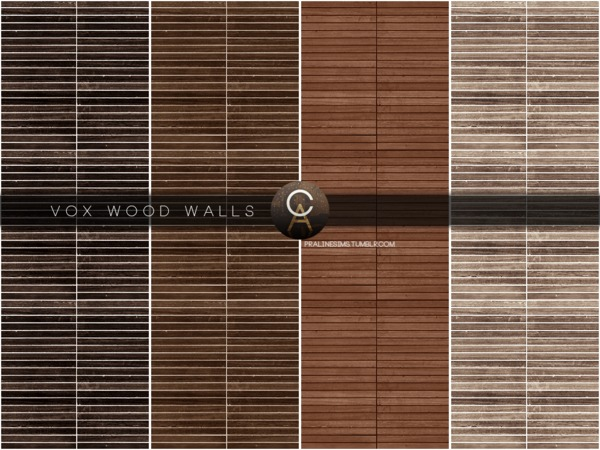 VOX Wood Walls by Pralinesims