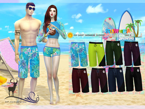 DSF SHORT SWINWEAR ELEMENT by DanSimsFantasy