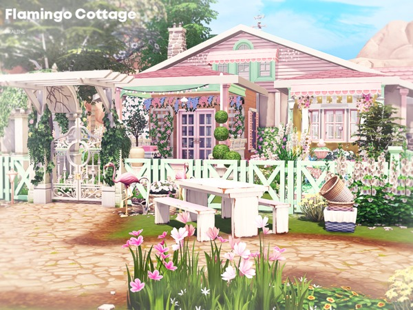 Flamingo Cottage by Pralinesims