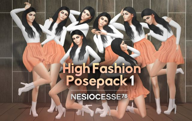 HIGH FASHION POSEPACK #01 by Nesiocesse78