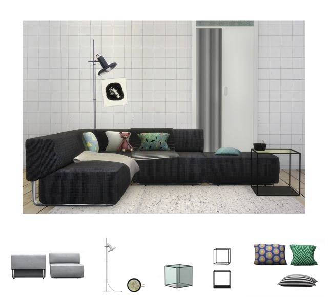 Rows living room by Slox