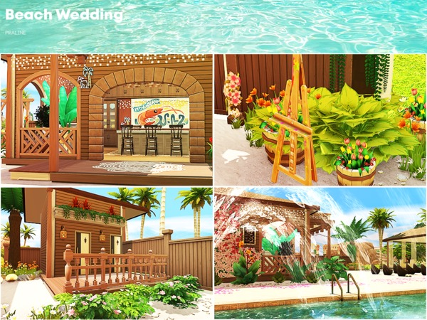 Beach Wedding by Pralinesims