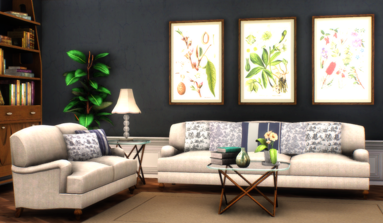 SNARKYSHARK ENGLISH ROLL-ARM SOFAS - TS2 CONVERSION by architectural-sims