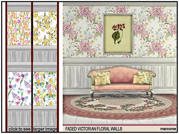 Faded Victorian Floral Walls by marcorse