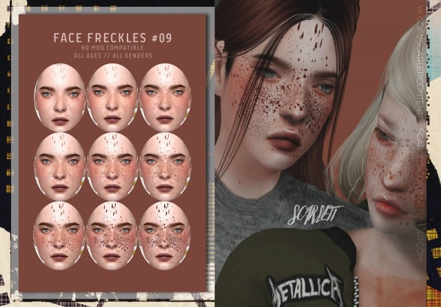 FACE FRECKLES #09 by scarlett-content