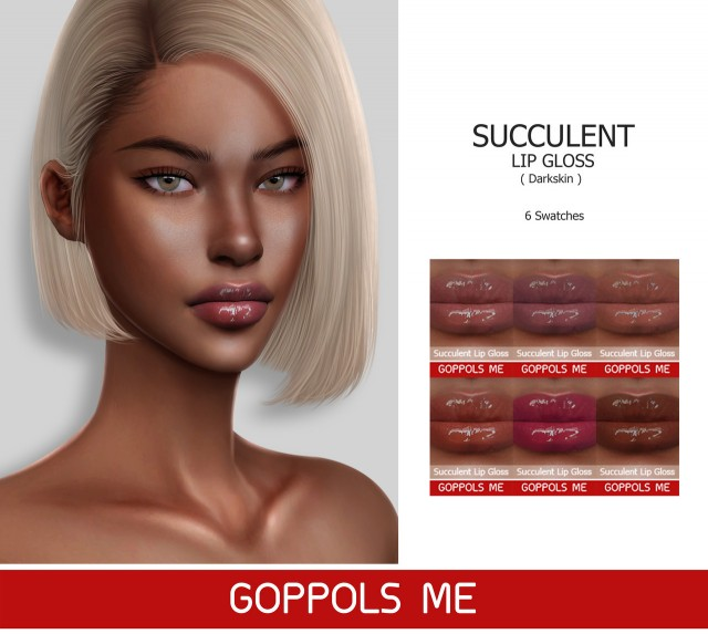 Succulent Lip Gloss (Darkskin) by GoppolsMe