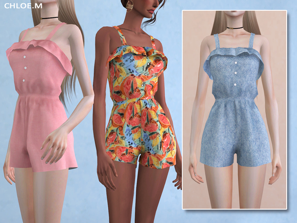 Jumpsuit with Falbala by ChloeMMM