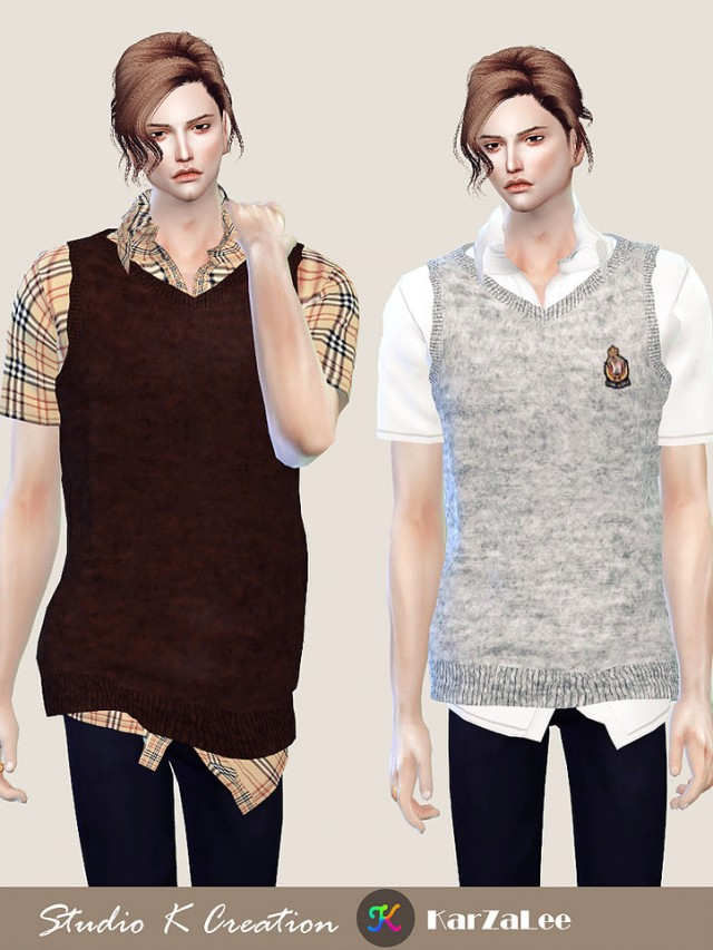 Giruto 58 Knitted Vest shirt by Studio K Creation