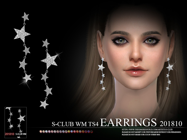 S-Club ts4 WM EARRINGS F 201810