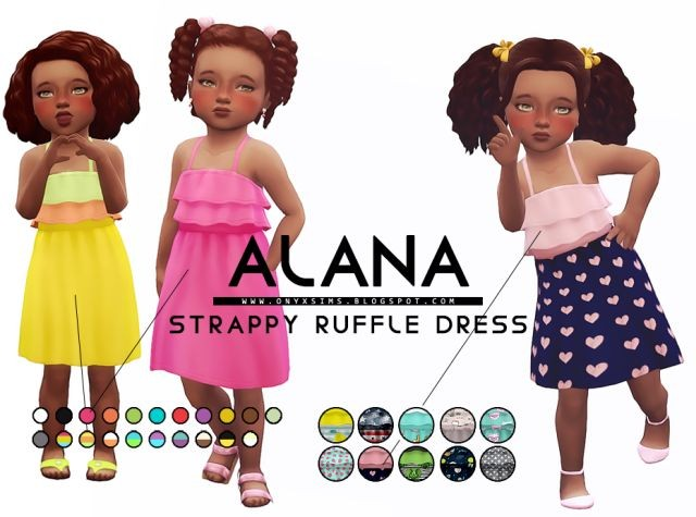Alana Strappy Ruffly Dress by KiaraRawks