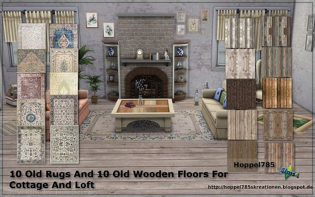 Old Rugs2 and Old Wooden Floors by Hoppel785