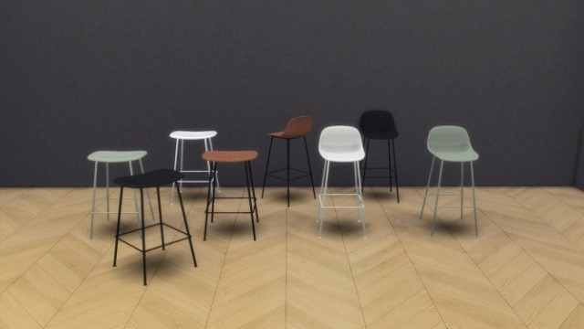 Fiber Stool Tube Base Collection by Meinkatz Creations