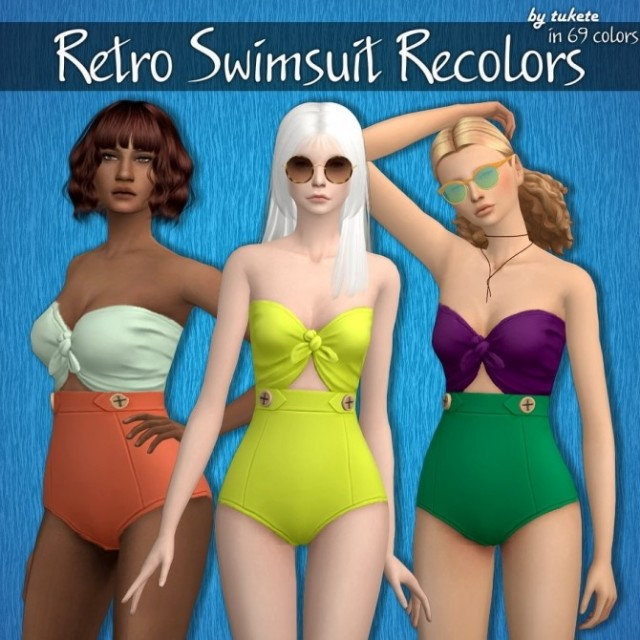 Retro Swimsuit Recolors by Tukete