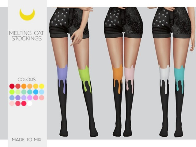 Stockings - Melting Cat (Both) - Made to Mix by Kalewa-a