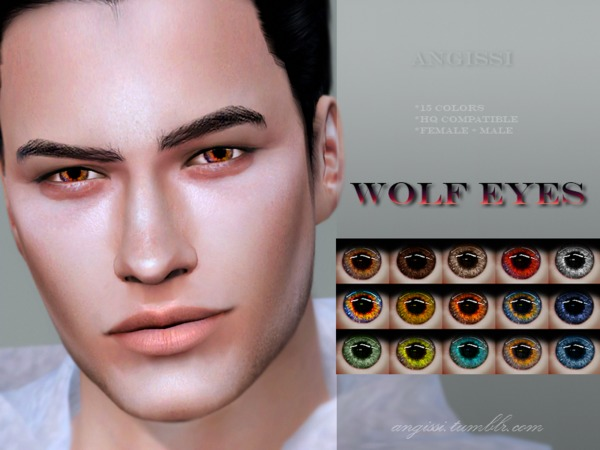 Wolf eyes by ANGISSI