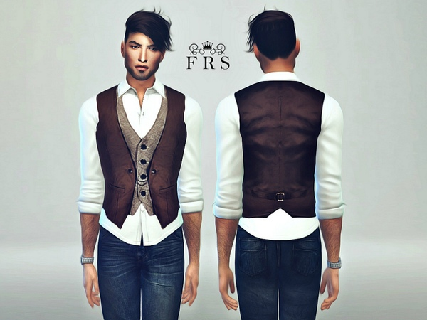 Male Classic Vest by FashionRoyaltySims