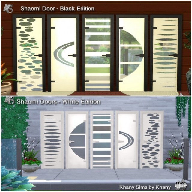 SHAOMI doors 2 colors  5 variations by Khany