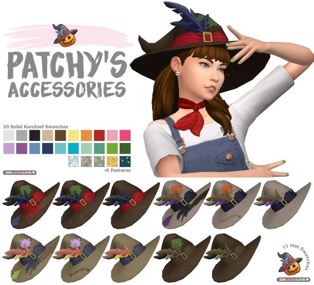 Patchys Accessories Hat & Kerchief by SimLaughLove