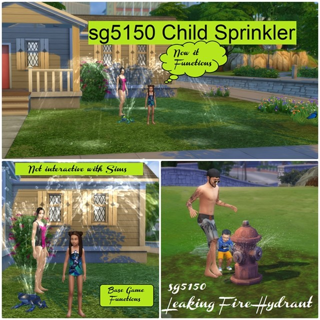 Childrens Sprinkler Option for Seasons & Leaking Fire Hydrant by sg5150