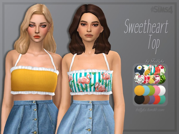 Trillyke - Sweetheart Top