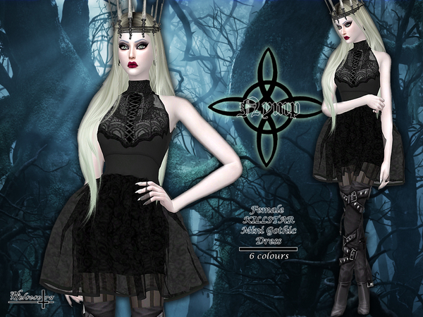 NYMP - Sheer Gothic Dress by Helsoseira