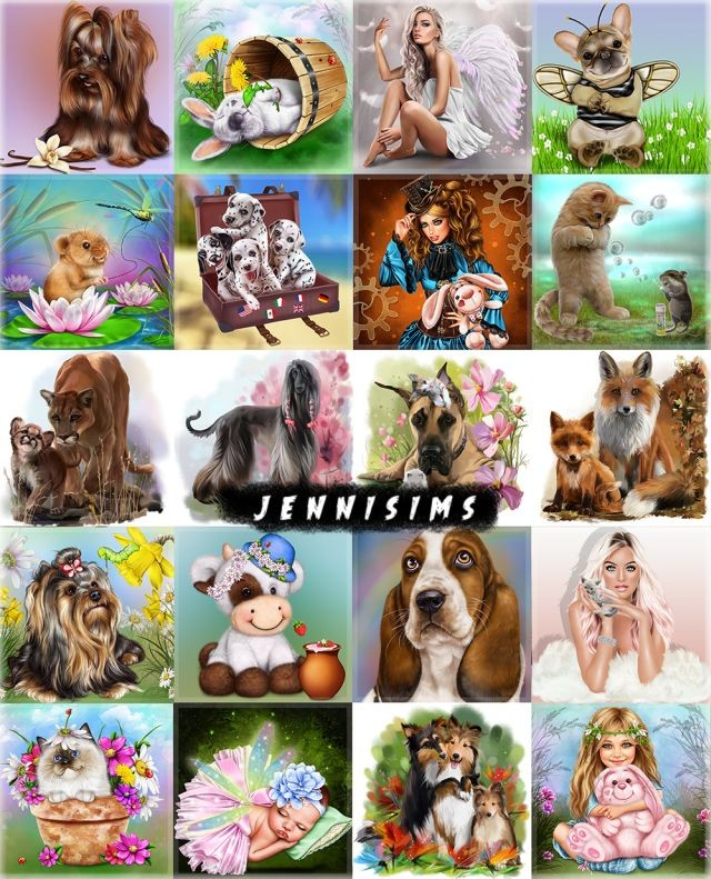 Paintings My Family (20 designs) by JenniSims