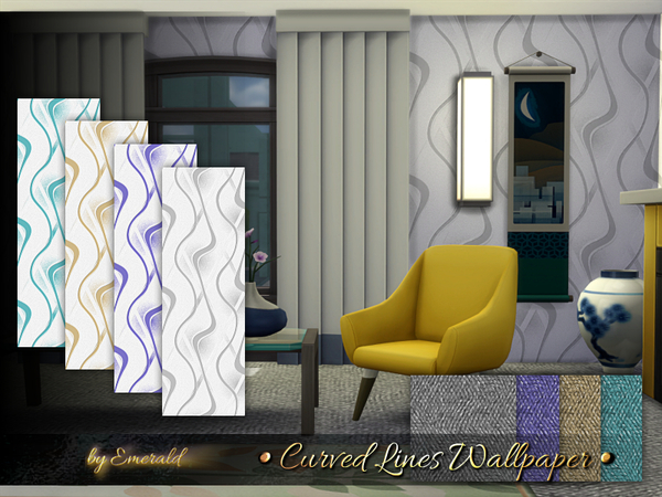 Curved Lines Wallpaper by emerald