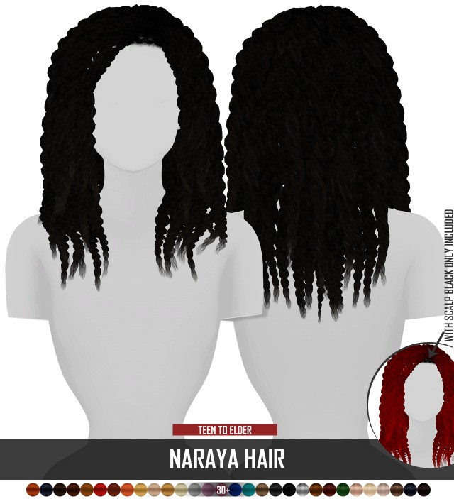 NARAYA HAIR by redheadsims