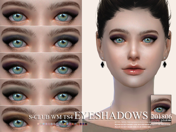 S-Club WM thesims4 Eyeshadow 201806