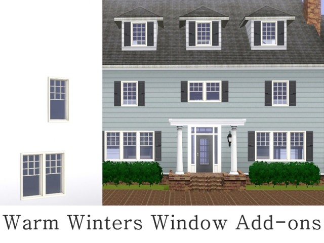 MZ Warm Winters Window Add-ons by missyzim