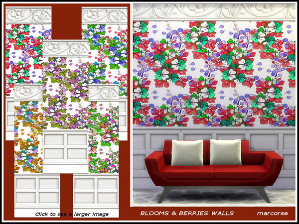 Blooms and Berries Walls_marcorse