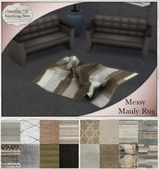 Messy Manly Rug by SimthingNew