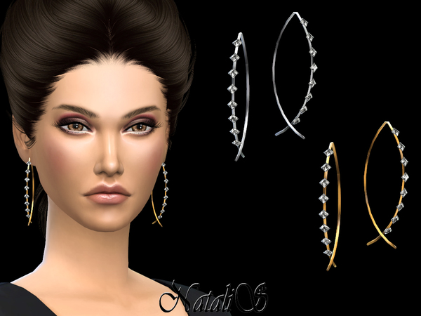 NataliS_Fish shaped earrings with crystals