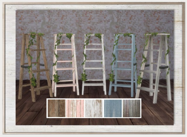 Rustic Ladder with Vines by SimthingNew