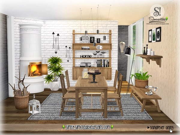 ScandiFever Dining room by SIMcredible