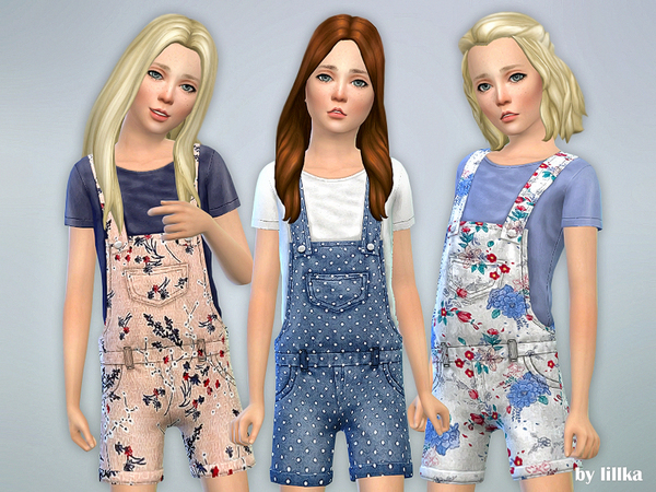 Printed Shorts Overall 02 by lillka