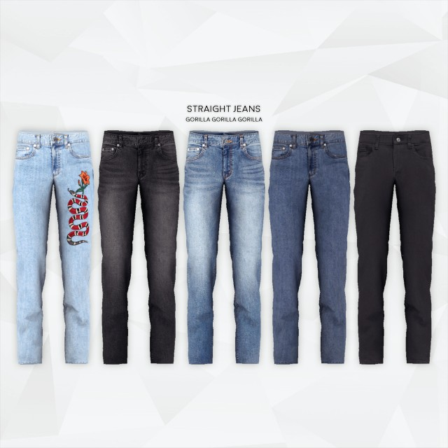 Straight Jeans by Gorilla