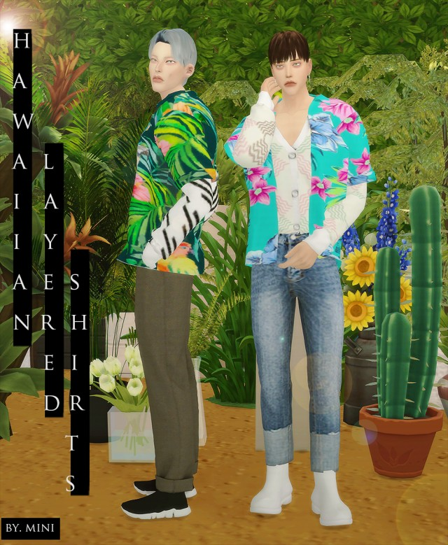 Hawaiian Layered Shirts_Mtop by miniminisims