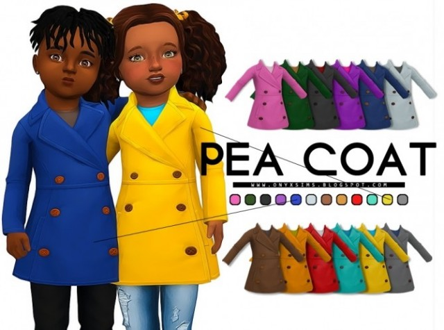 Toddler Pea Coat by KiaraRawks