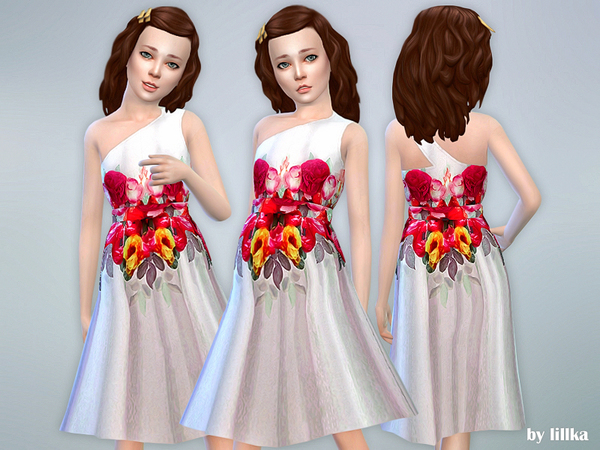 Rose Print Dress 02 by lillka