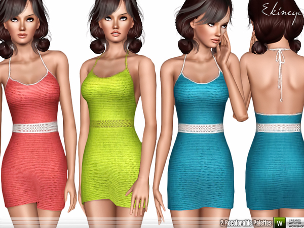 Crochet Halter Dress by ekinege