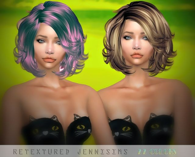 Newsea Bliz Hair retexture by JenniSims