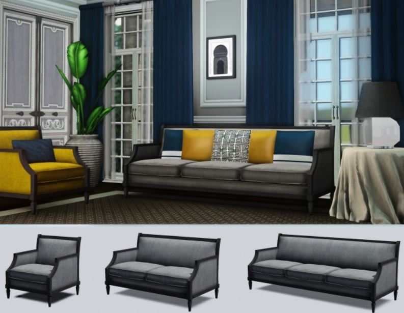SNARKYSHARK TEMPLETON SEATING - TS2 CONVERSION by Architectural-sims