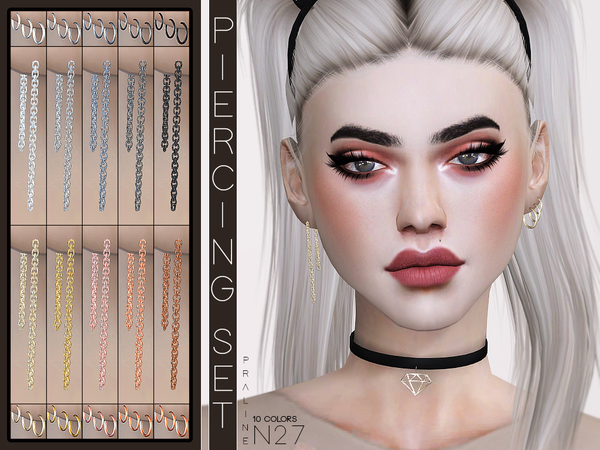 Piercing Set N27 by Pralinesims