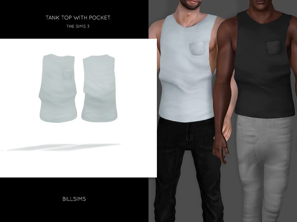 Tank Top with Pocket by Bill Sims