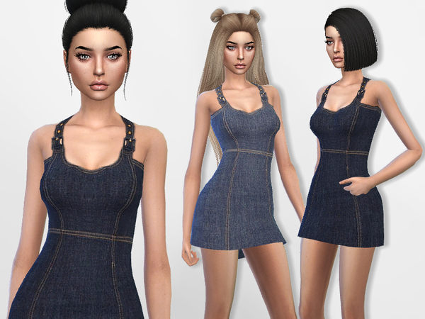 Denim Mini Dress by Puresim