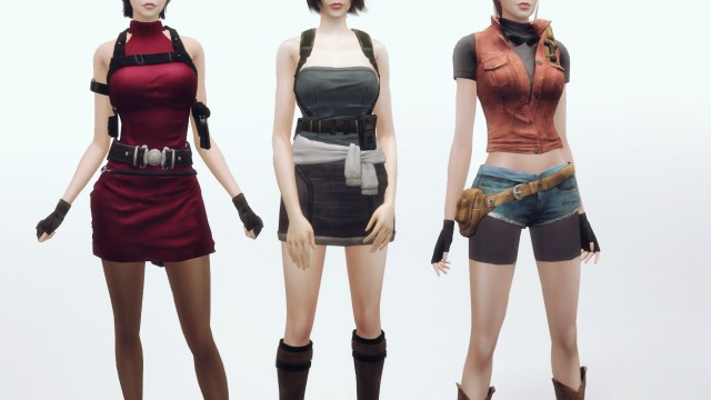 Character - Leon Kennedy, Jake Muller, Jill Valentine, Claire Redfield and Ada Wong from Resident Evil by plazasims