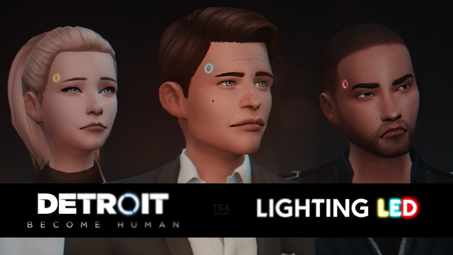 Светящиеся диоды андроида LIGHTING LED from DETROIT: Become Human by RedLuft