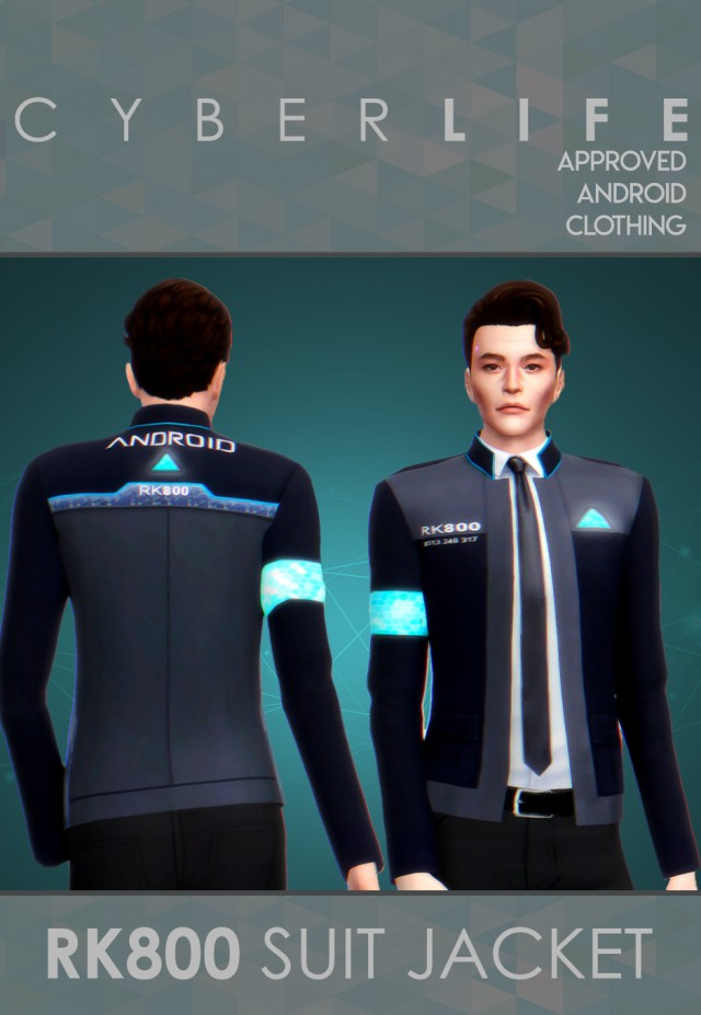 RK800 / CONNORS SUIT JACKET by llazyneiph